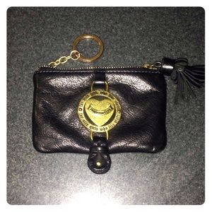 Juicy Couture coin purse/card case with key chain
